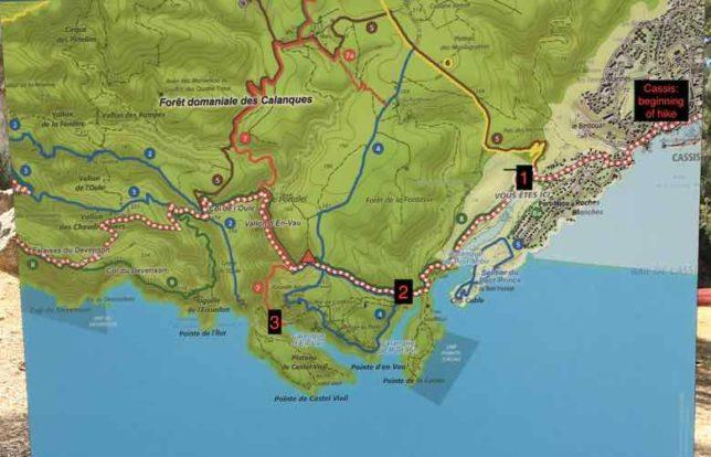Calanques National Park Map