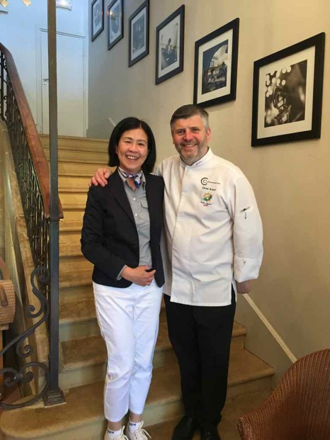 Janice Chung with Chef Olivier Boizet (J. Chung)