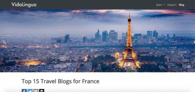 Top Travel Blogs for France-Vidalingua