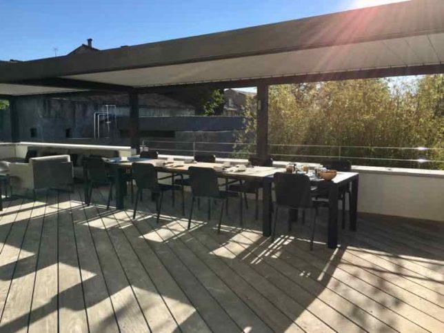 Breakfast on the terrace -Chateau Autignac