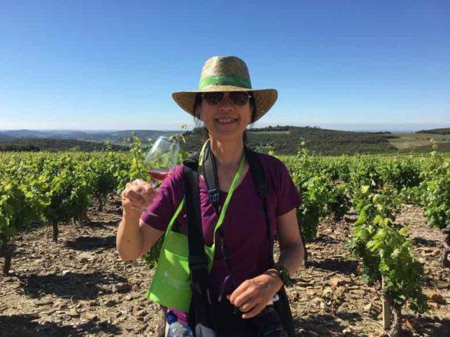 Jan tasting some Faugeres wine-Grands Vins de Nature (J. Chung)