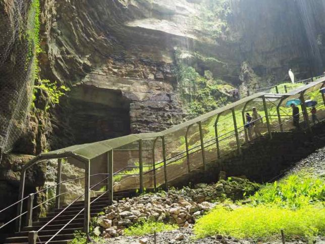 Stairs leading to entrance-Gouffre de Padirac (J. Chung)