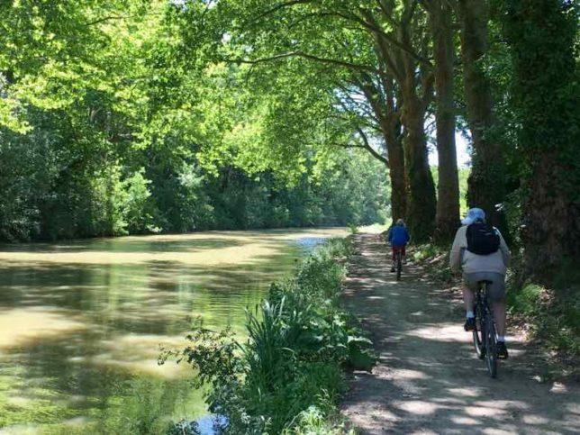 Cycling along the Canal du Midi (J. Chung)