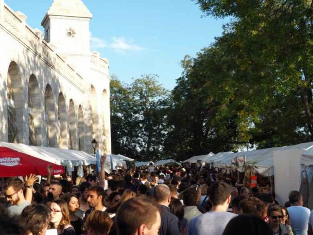 Crowds at the Fete des Vendanges (J. Chung)