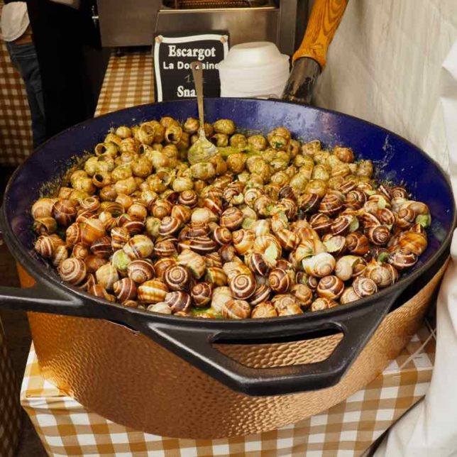 Escargots at Montmartre Wine Festival (J. Chung)