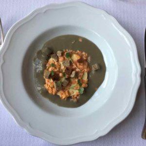 Foie gras with lentils-La Barbacane Carcassonne (J. Chung)