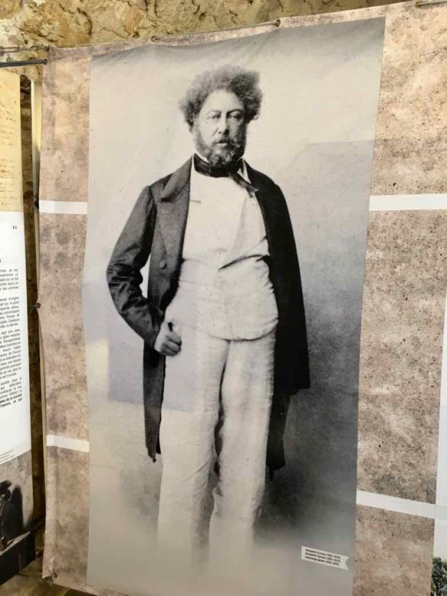 Alexandre Dumas from photo display at Chateau d'If (J. Chung)