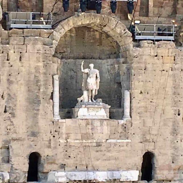 Emperor Augustus-Orange Roman Amphitheatre (J. Chung)