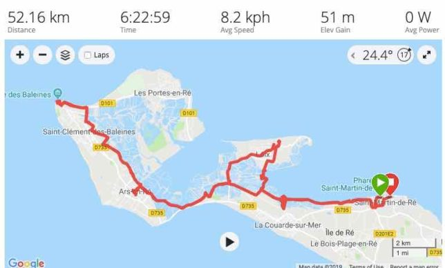 Ile de Re Cycling Route (J. Chung)