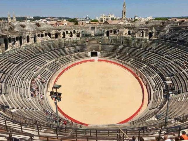 Inside Nimes Amphitheatre (J. Chung)