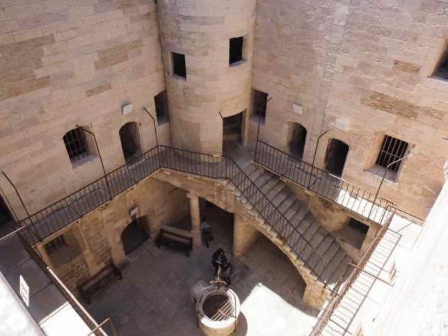 Interior courtyard- Chateau d'If (J. Chung)