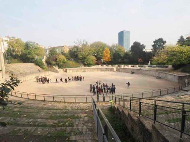 Paris Roman Amphitheatre: Arenes de Lutece (J. Chung)