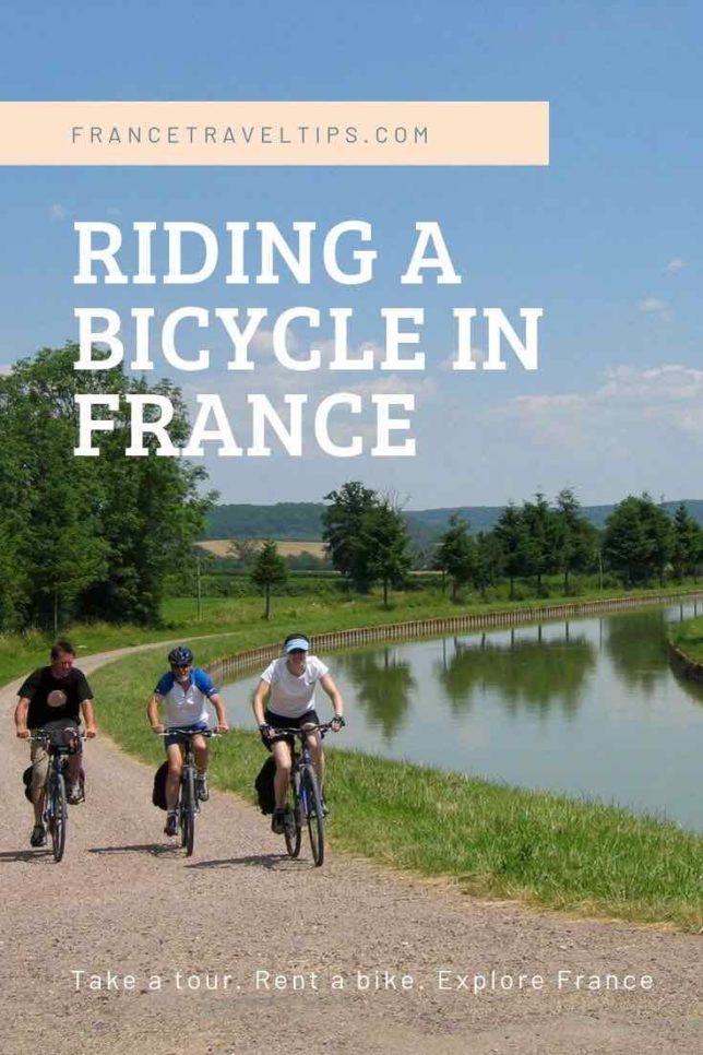Riding a bicycle in France (Pinterest)