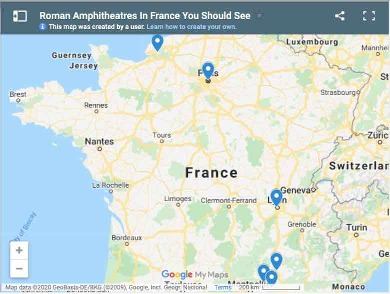 Roman Amphitheatres In France