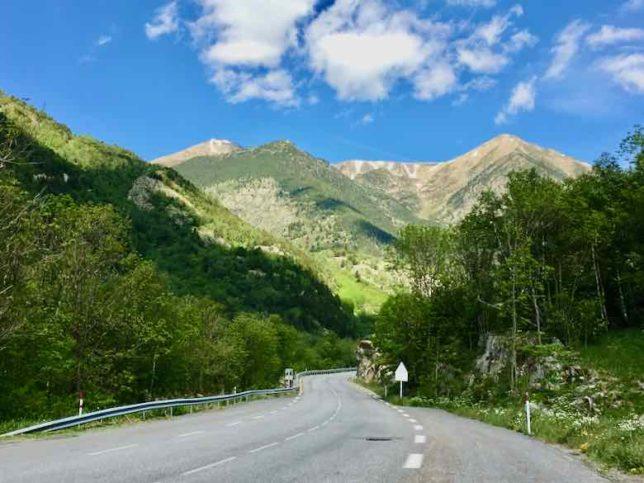Enroute from Prades to Tarascon-sur-Ariege (J. Chung)