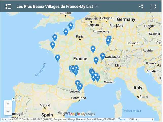 Les Plus Beaux Villages de France-Jans List