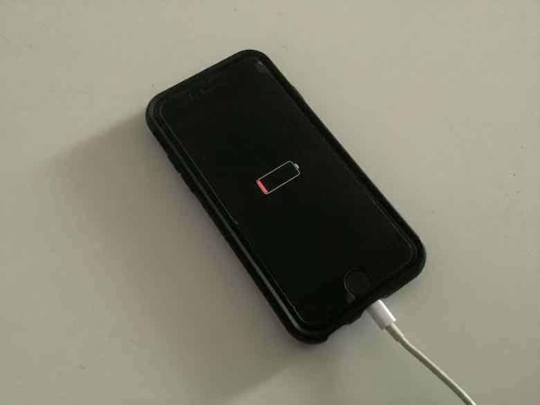 Smartphone battery needing a charge (J. Chung)