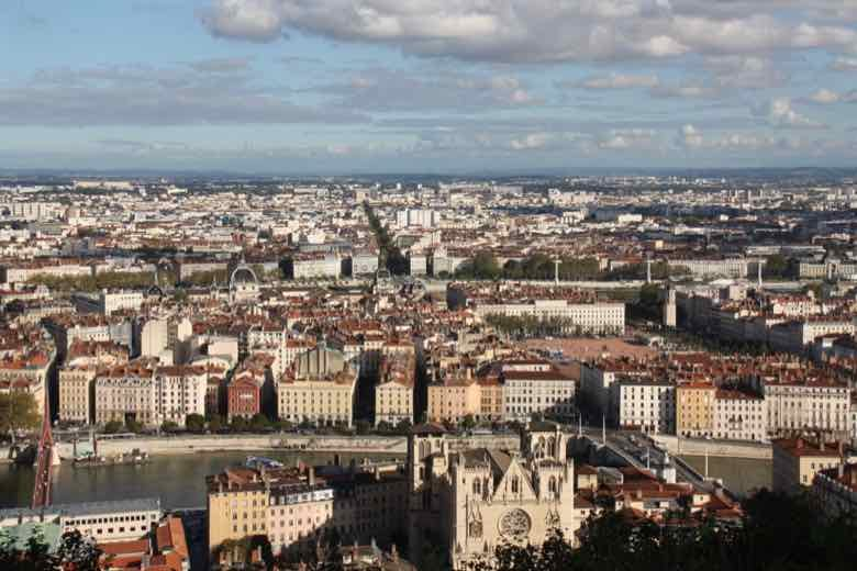 View from Fourviere, Lyon, France (J. Chung)