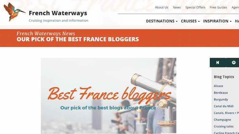 French Waterways Best France Bloggers