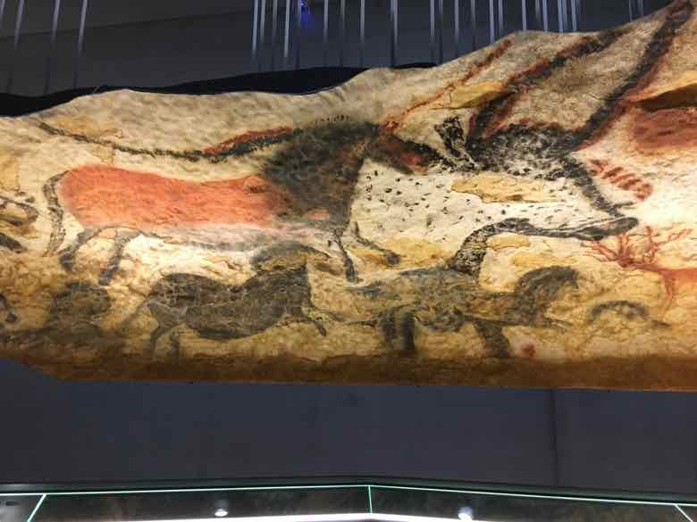Replica of the Hall of Bulls cave wall at Lascaux IV (J. Chung)