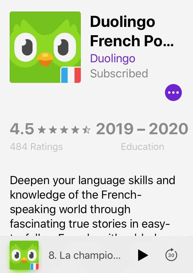 Duolingo French Podcast App