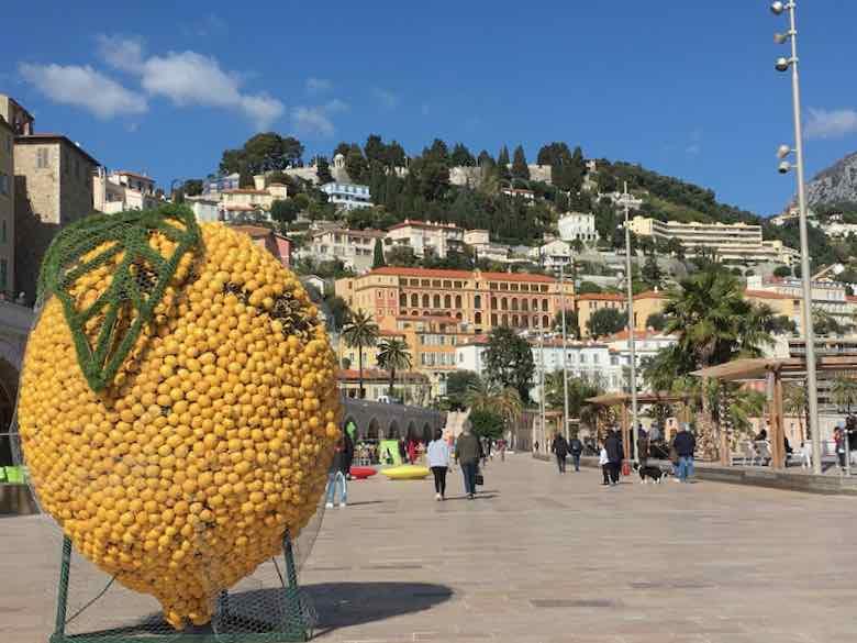 Fete du Citron -Menton Lemon Festival sculpture (J. Chung)