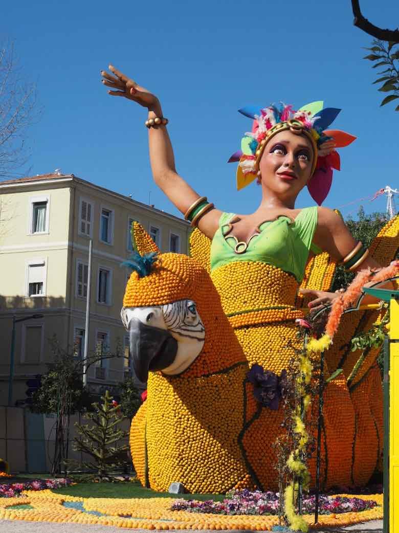 Lemon Festival in Menton sculpture (J. Chung)