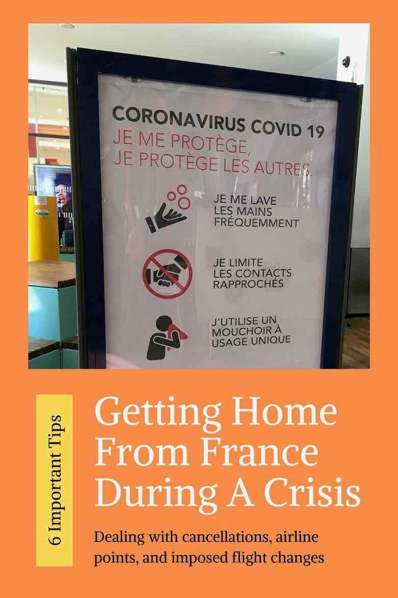 Getting home from France During A Crisis
