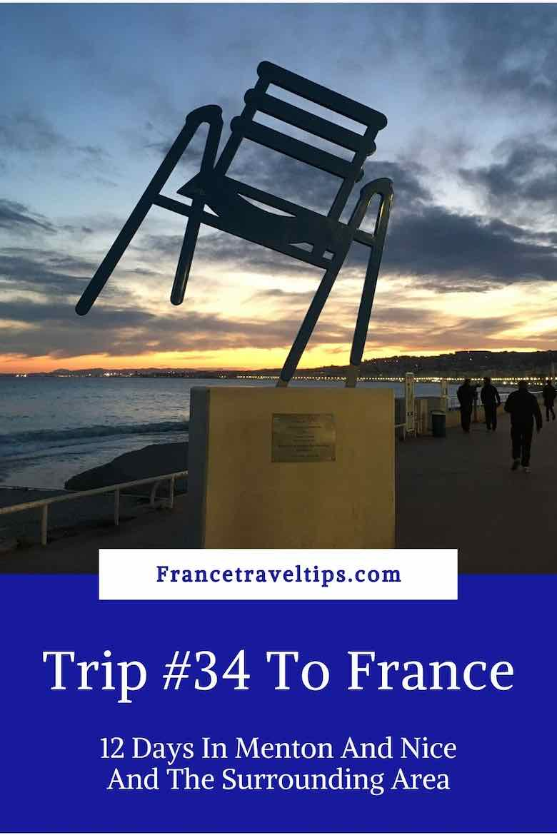 Trip #34 To France-12 Days In Menton And Nice