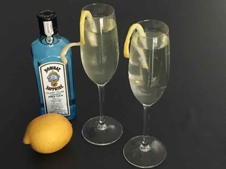 French 75 Soixante Quinze cocktail (J Chung)
