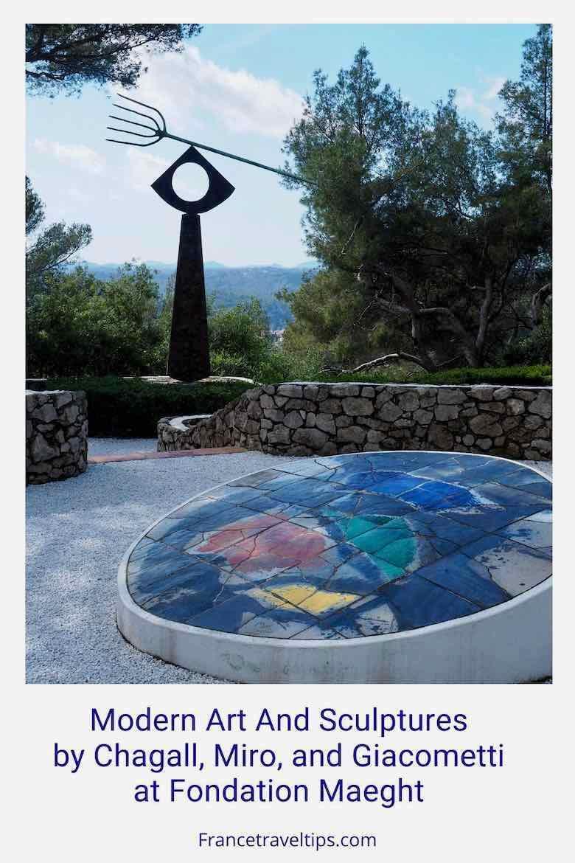 Modern art and sculptures-Fondation Maeght Foundation