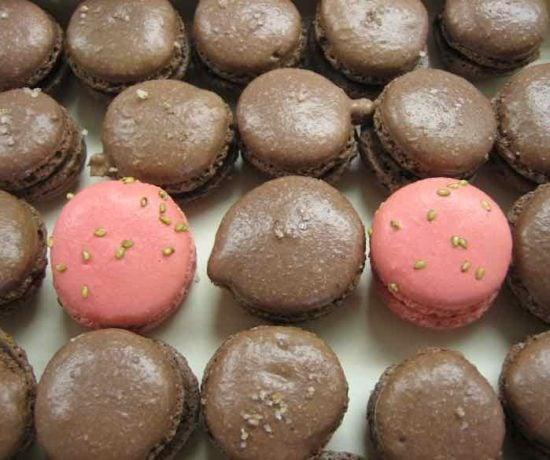 Dark chocolate macarons made at Le Cordon Bleu (J.Chung)