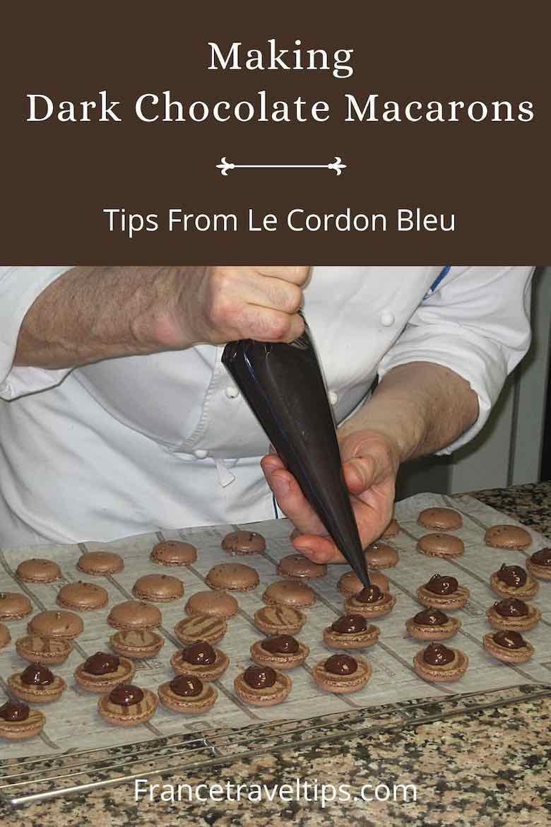 Making Dark Chocolate Macarons-Tips From Le Cordon Bleu