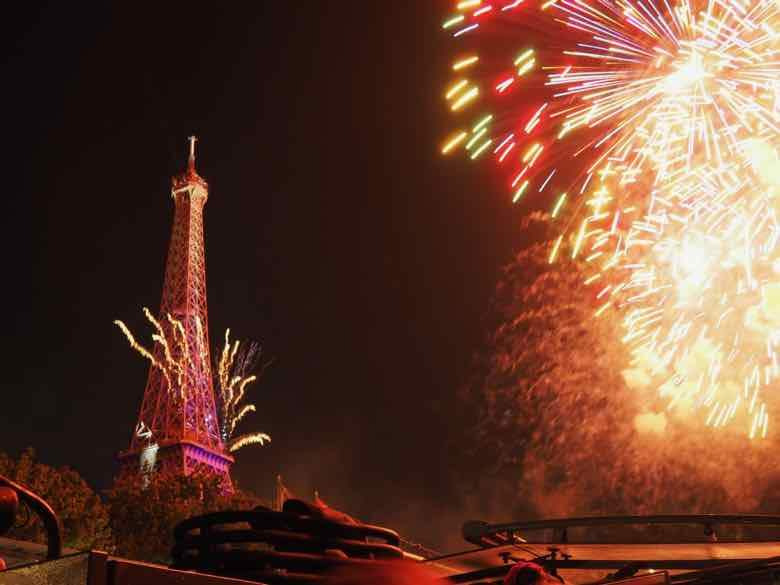 Celebrating Bastille Day In Paris with fireworks (J. Chung)