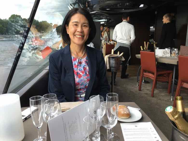Janice Chung on Bateaux Parisiens-Bastille Day dinner cruise