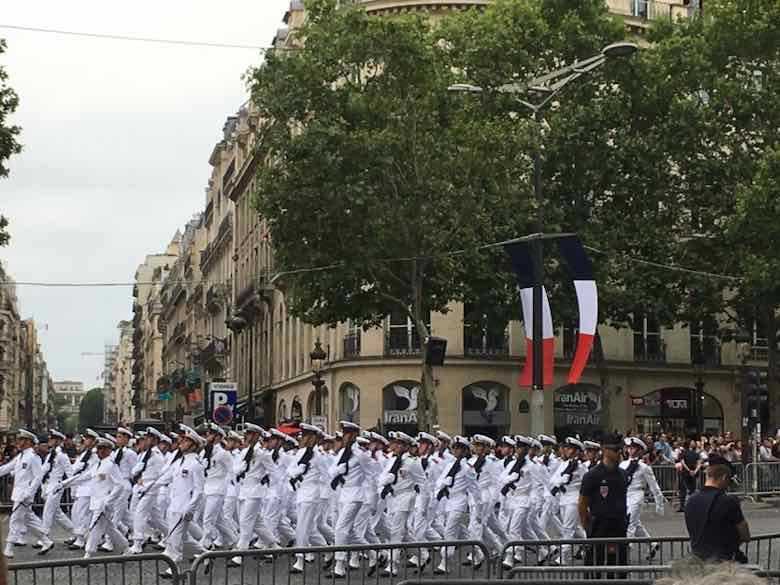 Military parade on Bastille Day (J. Chung)