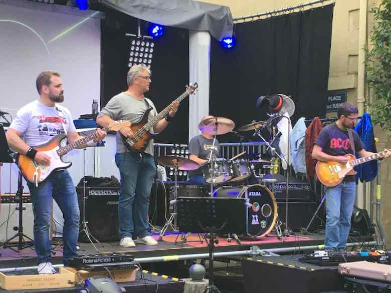 Rock band at the Fête de la Musique