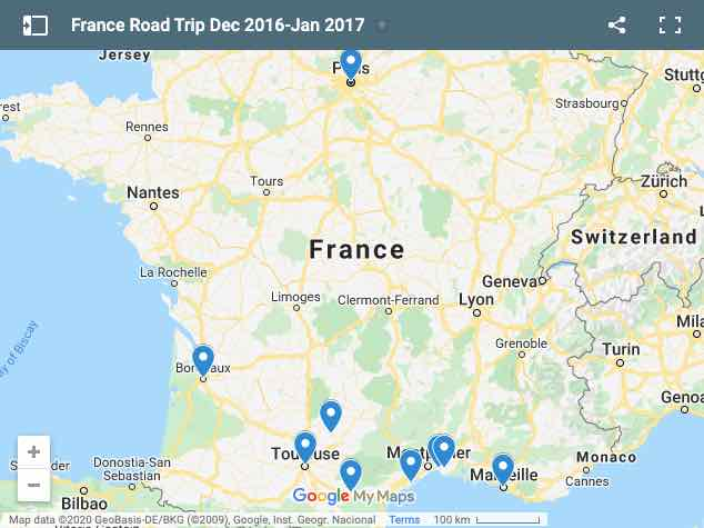 France Road Trip Dec 2016-Jan 2017