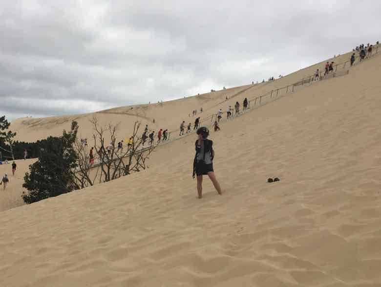 Stairway to the top of the dune (J. Chung)