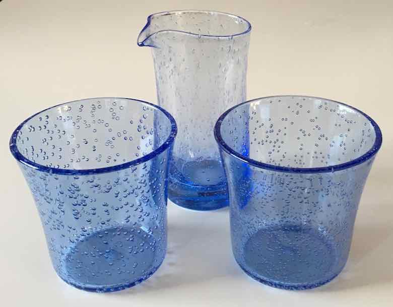 Carafe and acrylic glasses-La Verrerie de Biot (J. Chung)