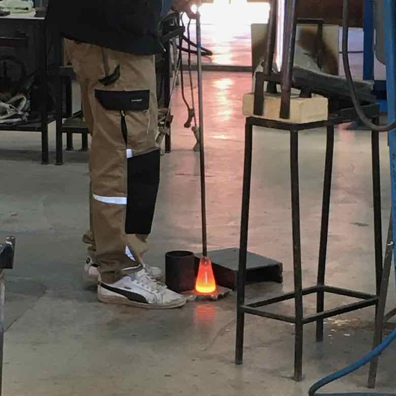 Glassblower at work-La Verrerie de Biot (J. Chung)