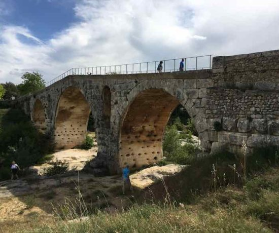 Crossing Pont Julien On The Via Domitia (J. Chung)