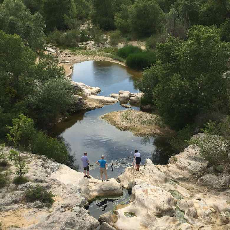 The Calavon River at Pont Julien (J. Chung)