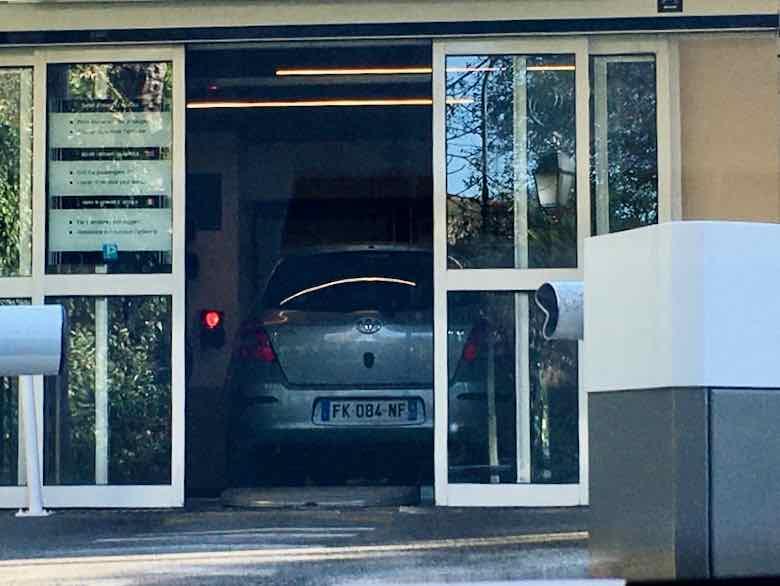 Car inside Planastel Parking-Cagnes sur Mer (J. Chung)