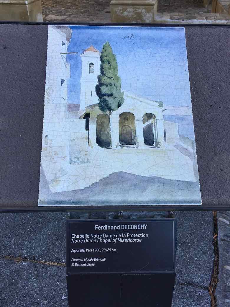 Painting-of-Chapelle-Notre-Dame-de-la-Protection-Cagnes-sur-Mer-J.-Chung