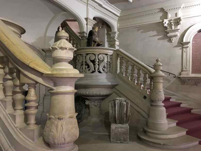 Stairway at Benedictine Palace, Fecamp (J. Chung)