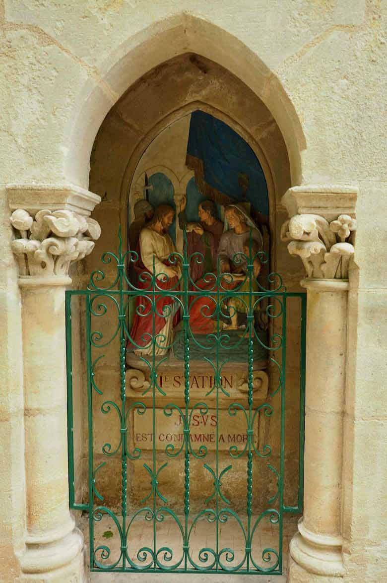 """Chemin de Croix station: """"Condemnation of Christ"""", Rocamadour"""
