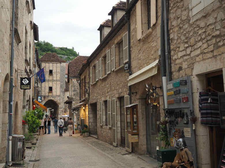 Main street in Rocamadour