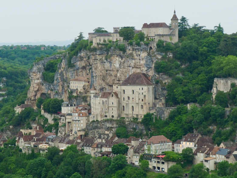 View of Rocamadour from Le Hotel Bellevue