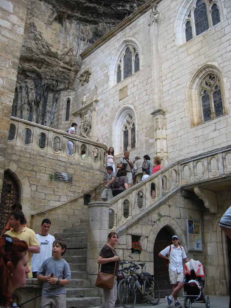 Stairs leading to Notre Dame Chapel, Rocamadour